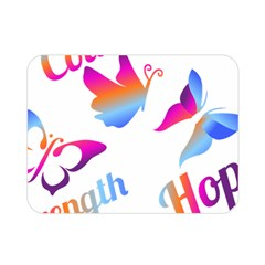 Strength Courage Hope Butterflies Double Sided Flano Blanket (mini)