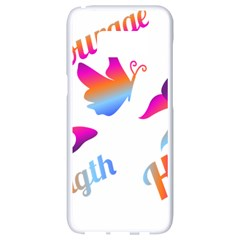 Strength Courage Hope Butterflies Samsung Galaxy S8 White Seamless Case