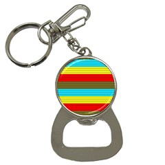 Multicolor With Black Lines Bottle Opener Key Chain