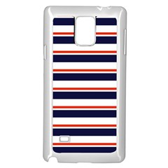 Red With Blue Stripes Samsung Galaxy Note 4 Case (white) by tmsartbazaar