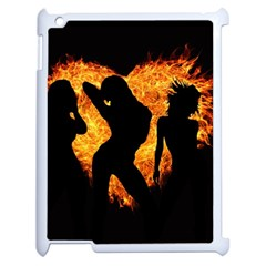 Shadow Heart Love Flame Girl Sexy Pose Apple Ipad 2 Case (white)