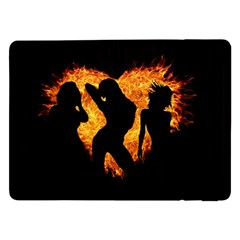Shadow Heart Love Flame Girl Sexy Pose Samsung Galaxy Tab Pro 12 2  Flip Case