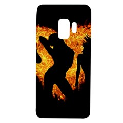 Shadow Heart Love Flame Girl Sexy Pose Samsung Galaxy S9 Tpu Uv Case by HermanTelo