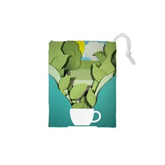 Illustrations Drink Drawstring Pouch (xs)