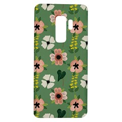 Flower Green Pink Pattern Floral Samsung Galaxy S9 Plus Tpu Uv Case