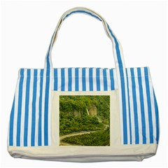 Amazonia Landscape, Banos, Ecuador Striped Blue Tote Bag
