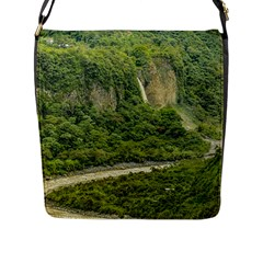 Amazonia Landscape, Banos, Ecuador Flap Closure Messenger Bag (l)