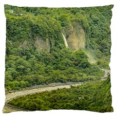 Amazonia Landscape, Banos, Ecuador Large Flano Cushion Case (two Sides)