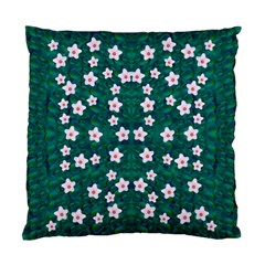 Porcelain Flowers  On Leaves Standard Cushion Case (one Side)