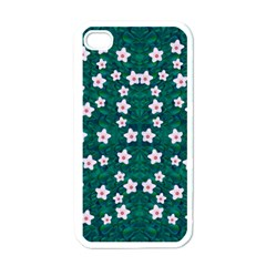 Porcelain Flowers  On Leaves Iphone 4 Case (white) by pepitasart