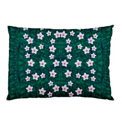 Porcelain Flowers  On Leaves Pillow Case (two Sides)