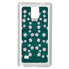 Porcelain Flowers  On Leaves Samsung Galaxy Note 4 Case (white) by pepitasart