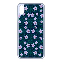 Porcelain Flowers  On Leaves Iphone Xs Max Seamless Case (white)