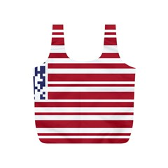 Qr-code & Barcode American Flag Full Print Recycle Bag (s) by abbeyz71