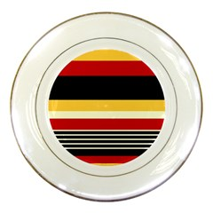 Contrast Yellow With Red Porcelain Plates