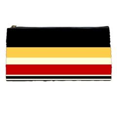 Contrast Yellow With Red Pencil Case