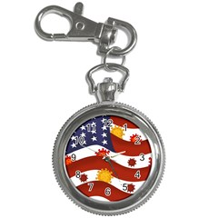 Flage Save Usa Corona Key Chain Watches
