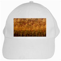 Fall Leaves Gradient Small White Cap