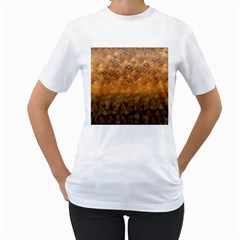 Fall Leaves Gradient Small Women s T-shirt (white) (two Sided) by Abe731