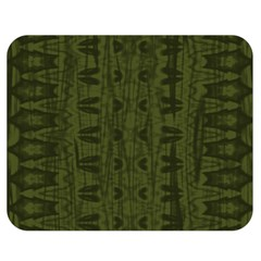 Army Green Color Batik Double Sided Flano Blanket (medium)