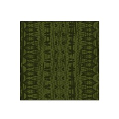 Army Green Color Batik Satin Bandana Scarf