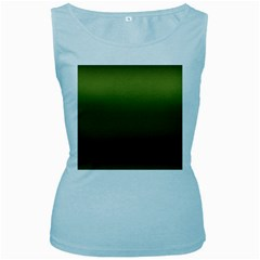 Army Green Gradient Color Women s Baby Blue Tank Top by SpinnyChairDesigns