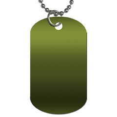 Army Green Gradient Color Dog Tag (two Sides) by SpinnyChairDesigns
