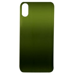 Army Green Gradient Color Apple Iphone Xs Tpu Uv Case by SpinnyChairDesigns