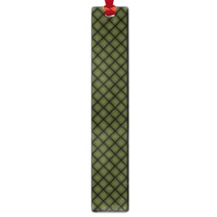 Army Green And Black Plaid Large Book Marks