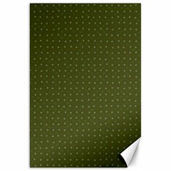 Army Green Color Polka Dots Canvas 20  X 30