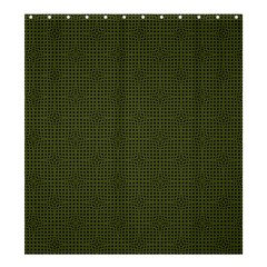 Army Green Color Polka Dots Shower Curtain 66  X 72  (large)