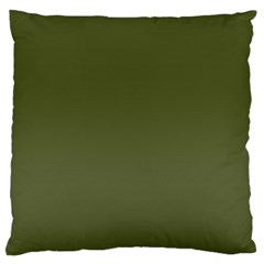 Army Green Color Ombre Standard Flano Cushion Case (two Sides) by SpinnyChairDesigns