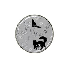 Grey Cats Design  Hat Clip Ball Marker (4 Pack)