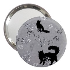 Grey Cats Design  3  Handbag Mirrors by Abe731