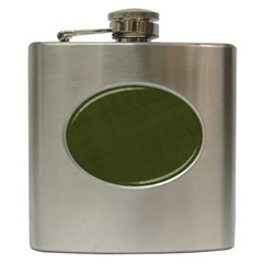 Army Green Color Texture Hip Flask (6 Oz)
