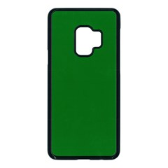 True Emerald Green Color Samsung Galaxy S9 Seamless Case(black) by SpinnyChairDesigns