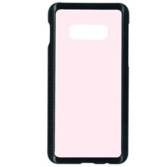 Lavender Blush Pink Color Samsung Galaxy S10e Seamless Case (black) by SpinnyChairDesigns