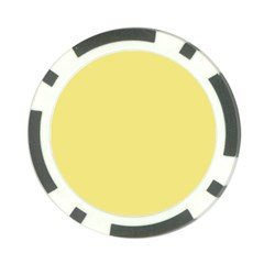 True Lemon Yellow Color Poker Chip Card Guard by SpinnyChairDesigns
