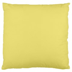 True Lemon Yellow Color Large Cushion Case (two Sides) by SpinnyChairDesigns