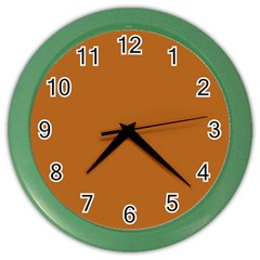 True Light Brown Color Color Wall Clock