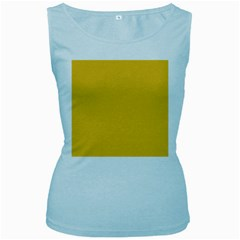 True Saffron Yellow Color Women s Baby Blue Tank Top by SpinnyChairDesigns