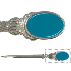 True Teal Blue Color Letter Opener by SpinnyChairDesigns