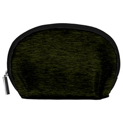 Army Green Color Textured Accessory Pouch (large)