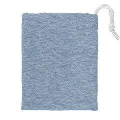 Faded Denim Blue Texture Drawstring Pouch (3xl)