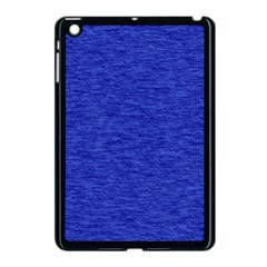Cobalt Blue Color Texture Apple Ipad Mini Case (black)