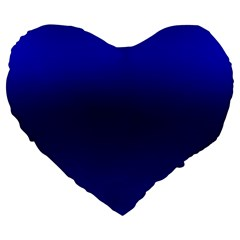 Cobalt Blue Gradient Ombre Color Large 19  Premium Heart Shape Cushions