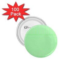 Mint Green White Stripes 1 75  Buttons (100 Pack)