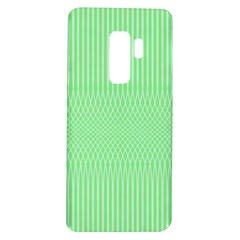 Mint Green White Stripes Samsung Galaxy S9 Plus Tpu Uv Case by SpinnyChairDesigns