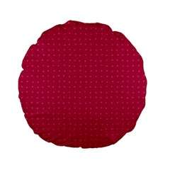 Rose Pink Color Polka Dots Standard 15  Premium Round Cushions