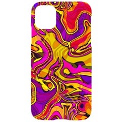 Colorful Boho Swirls Pattern Iphone 11 Black Uv Print Case by SpinnyChairDesigns